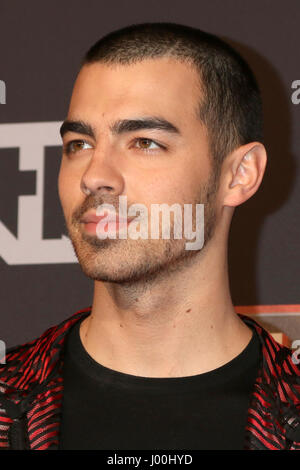Los Angeles, CA, USA. 5th Mar, 2017. LOS ANGELES - MAR 5: Joe Jonas at the 2017 iHeart Music Awards at Forum on - Stock Photo