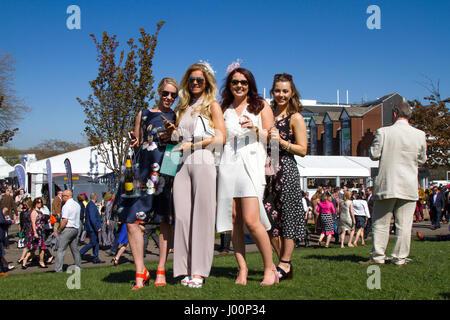 Randox Health Grand National, Liverpool, Merseyside. 8th April 2017.  The fashions pour in at the Randox Health - Stock Photo