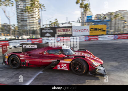 Long Beach, California, USA. 7th Apr, 2017. April 07, 2017 - Long Beach, California, USA: The Mazda Motorsports - Stock Photo