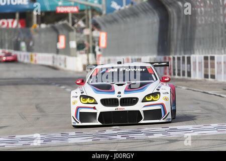 Long Beach, California, USA. 7th Apr, 2017. April 07, 2017 - Long Beach, California, USA: The BMW Team RLL races - Stock Photo