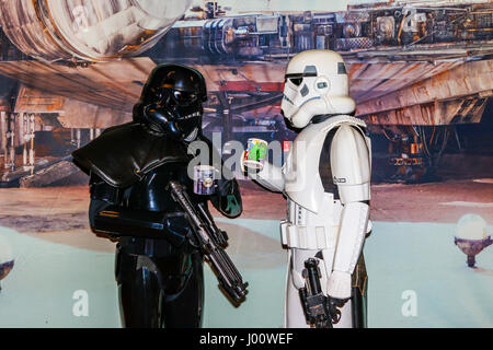 Glasgow, UK. 8th April, 2017. Glasgow held its first Sci-fi, Cosplay and Comic Convention in the famous Barrowland - Stock Photo