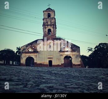 Santa Ana Church, Trinidad, Cuba, Caribbean sea - Stock Photo