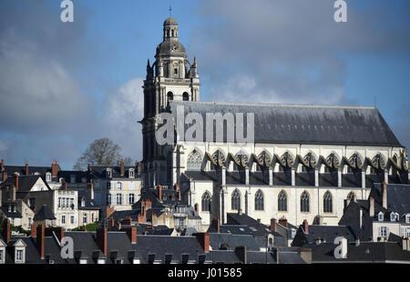 Cathedrale Saint-Louis, Blois, Loire river, Loire valley, Loir-et-Cher, Centre-Val de Loire, France, Europe, UNESCO - Stock Photo