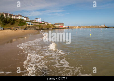The holiday fishing village in Cardigan Bay West Wales. - Stock Photo