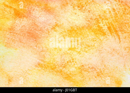 Yellow abstract hand-drawn watercolor texture - Stock Photo