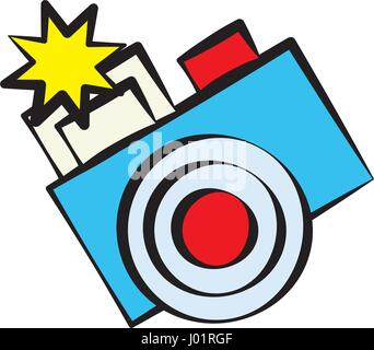 cartoon photo camera image - Stock Photo