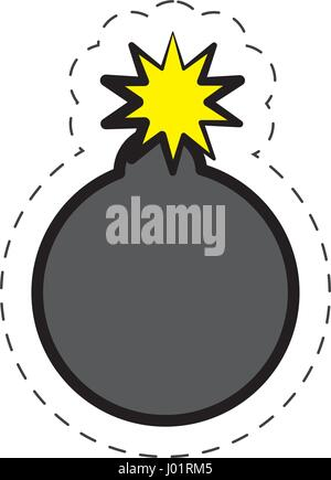 comic bomb explotion symbol - Stock Photo