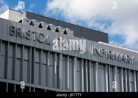 Bristol Royal Infirmary, Bristol, UK - Stock Photo