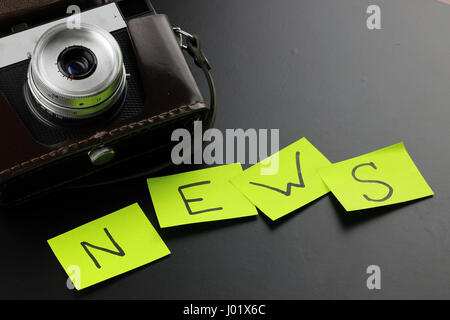 News camera journalism - Stock Photo