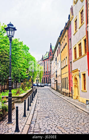Street at University Library in Wroclaw, Poland - Stock Photo