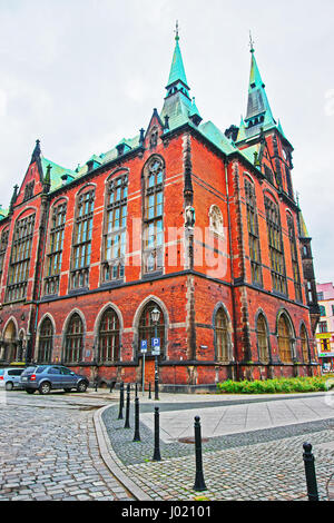 University Library in Wroclaw, Poland - Stock Photo