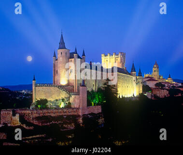 Alcazar at Segovia, Castile y Leon, Spain - Stock Photo