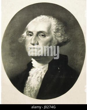 George Washington. (1732-1799) American politician and soldier. 18th Century. First President of the United States. - Stock Photo