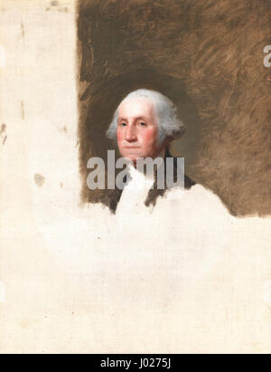 The Athenaeum. Portrait of George Washington by Gilbert Stuart. Painted in 1796. Basis for engraving the one dollar - Stock Photo