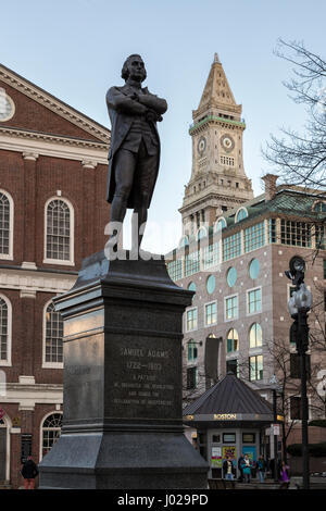 Samuel Adams Statue - Stock Photo