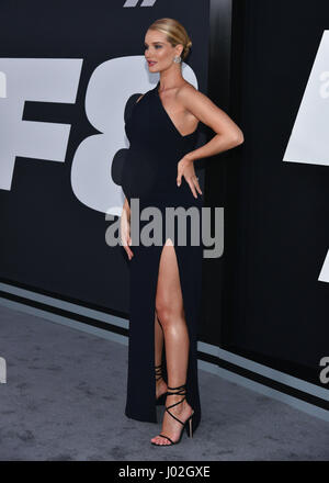 New York, USA. 8th April, 2017. Rosie-Huntington-Whiteley attends 'The Fate Of The Furious' New York Premiere at - Stock Photo