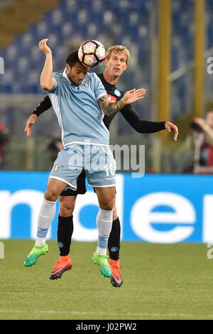 Rome, Italy. 9th April, 2017.  Felipe Anderson of Lazio in action during Serie A TIM match between SS Lazio and - Stock Photo