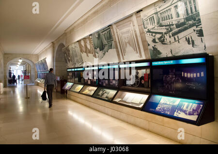 New York City, USA - May 07, 2015: New York Public Library in Manhattan, culture place - Stock Photo