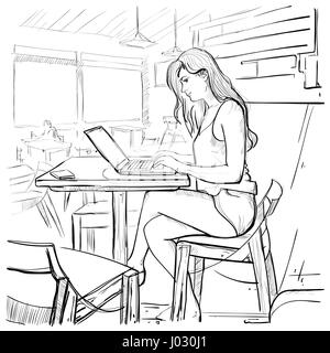 great excellent young art student type woman or girl with an old russian film with sketch room online with sketch a room online.