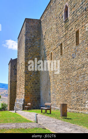Lagopesole Castle. Basilicata. Italy. - Stock Photo