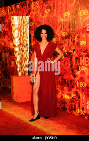 Jasmin Savoy Brown attends HBO's 2015 Emmy After Party at the Pacific Design Center on September 20th, 2015 in Los - Stock Photo