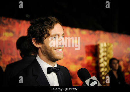 Thomas Middleditch being interviewed at HBO's 2015 Emmy After Party at the Pacific Design Center on September 20th, - Stock Photo