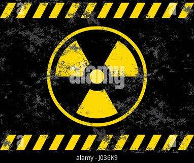 Warning sign. Radiation background radiation. Vector illustrator - Stock Photo