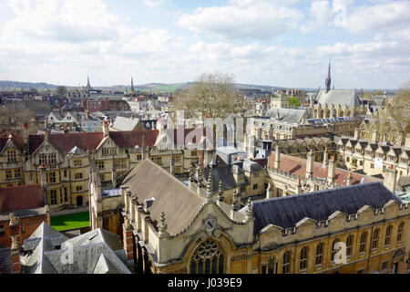 Oxford Skyline, Oxford University and Colleges, UK. - Stock Photo