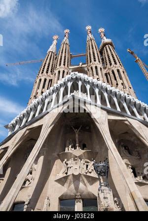Spring at the Sagrada Familia, Barcelona Spain Europe EU - Stock Photo