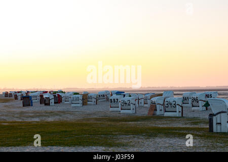 North Sea Germany Wilhelmshaven on Evening - Stock Photo