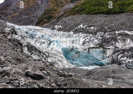 The view of Fox Glacier in winter in New Zealand - Stock Photo