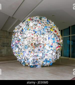 Books sculpture in City of the Culture of Galicia, Santiago de Compostela, Spain, August-05-2013 - Stock Photo