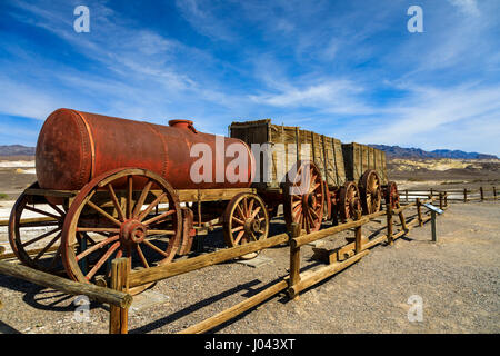 Display Of A 20 Mule Team Mining Cart Harmony Borax Works Death Stock Photo Royalty Free