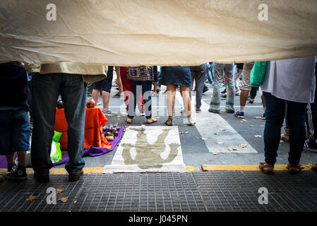 Argentina people commemorate Day of Memory for Truth and Justice -  24/03/2017  -  Argentina / Buenos Aires  -  - Stock Photo