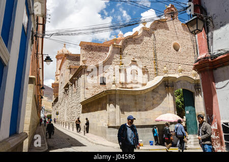 Bolivia, everyday life -  03/03/2015  -  Bolivia / Potosi (city)  -  Bolivia / Potosi - A view from the street near - Stock Photo