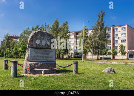 Battle of Kirchholm monument in Salaspils city, Republic of Latvia. In 1605 Polish-Lithuanian-Courland armies defeated - Stock Photo