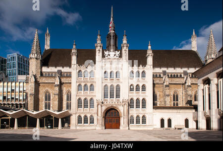 London, England - February 17, 2013: The mediaeval Guildhall of the City of London. - Stock Photo
