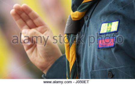 Embargoed to 0001 Tuesday April 11 File photo dated 14/4/2016 of a Scout, as tens of thousands of young people are - Stock Photo