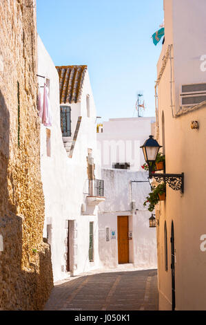 Vejer de la Frontera, White Towns of Andalusia, Pueblos Blancos, province of Cádiz, Spain - Stock Photo