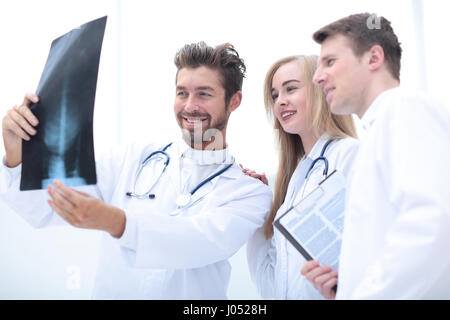 Closeup portrait of intellectual healthcare professionals with w - Stock Photo