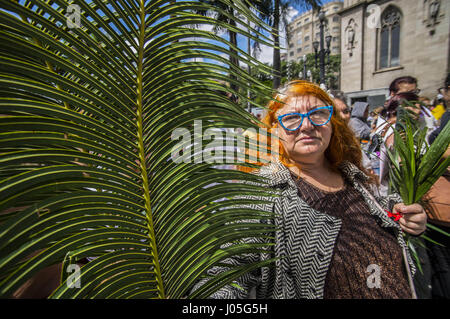Brazil. 9th Apr, 2017. Cardinals during the Palm Sunday celebrations at Cathedral of Sé im são Paulo on April 9, - Stock Photo