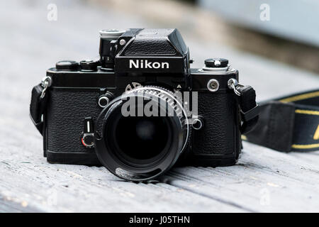 Nikon F2a Single Lens Reflex 35mm Film Camera, First released in 1971. - Stock Photo
