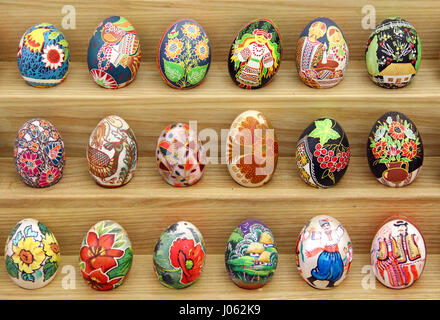 KYIV, UKRAINE - APRIL 16, 2015: Pysanka Festival - traditional ukrainian festival of Easter eggs in St. Sophia Cathedral - Stock Photo