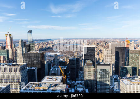 Central Park seen from the top of the Chrysler Building - Stock Photo