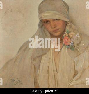Alfons Mucha (1860-1939) - Nevěsta - Stock Photo
