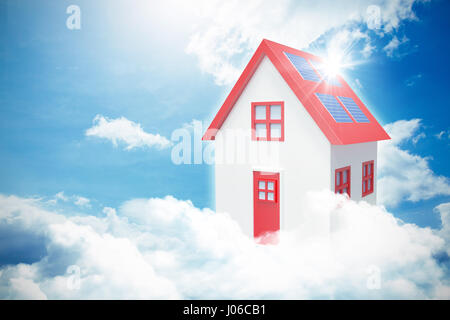 Composite image of 3d house against blue sky - Stock Photo
