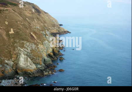 Cliffs on the east side of Howth Peninsula near Dublin, County Fingal, Leinster, Ireland, Europe - Stock Photo