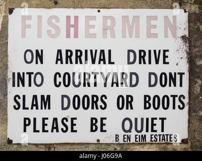 Vintage sign in Woodstock, Oxfordshire - Stock Photo