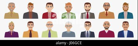 Flat vector characters - Stock Photo