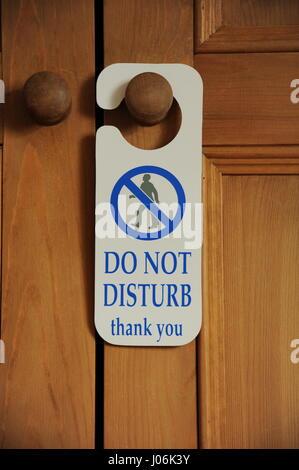 do not disturb door sign - Stock Photo